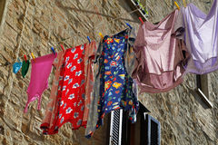 Hanging clothes Royalty Free Stock Images