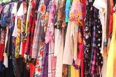 Hanging clothes. Colorful for women Royalty Free Stock Photography