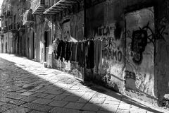 Hanging clothes, Palermo Royalty Free Stock Image