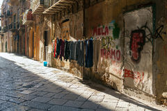 Hanging clothes, Palermo Stock Photography