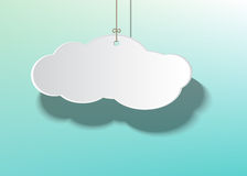 Hanging cloud rope Royalty Free Stock Photography