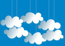 Hanging Clouds invitation card Stock Image