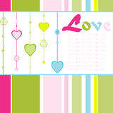 Hanging colorful love background Stock Photo