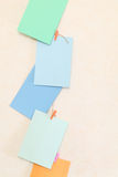 Hanging colorful paper Royalty Free Stock Photography