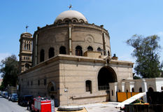 Hanging Coptic church in Cairo. Egypt, entrance view Royalty Free Stock Images