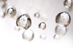 Hanging crystal balls Royalty Free Stock Image