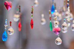 Hanging crystals stock photography
