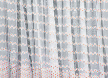 Hanging curtains Royalty Free Stock Images