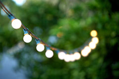 Hanging decorative christmas lights Stock Photography