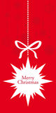 Hanging decorative star Christmas card Royalty Free Stock Images