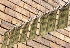 Hanging dollars Royalty Free Stock Photos