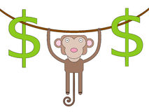 Hanging dollars Royalty Free Stock Photo