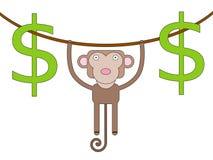 Hanging dollars Royalty Free Stock Photo