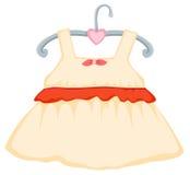 Hanging dress girl Royalty Free Stock Photos