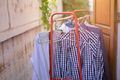 Hanging dry the clothes Royalty Free Stock Photos