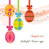 Hanging Easter eggs Stock Photos