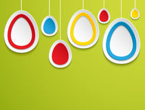 Hanging easter eggs. Royalty Free Stock Photography
