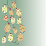 Hanging easter eggs Royalty Free Stock Image