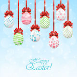Hanging Easter eggs Stock Photography