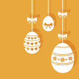 Hanging easter eggs. Vector background royalty free illustration