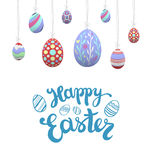 Hanging easter eggs vector Royalty Free Stock Image