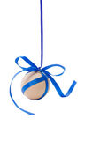 Hanging egg with ribbon and bow Royalty Free Stock Photography