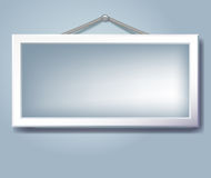 Hanging empty frame Stock Photography
