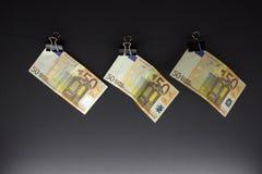 Hanging Euro Stock Photography