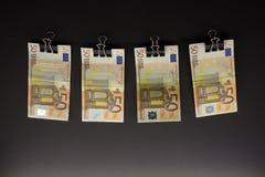 Hanging Euro Royalty Free Stock Image