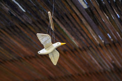 Hanging fake bird for decoration Royalty Free Stock Photo