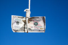 Hanging fifty Dollar Royalty Free Stock Image