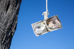 Hanging fifty Dollar 2 Stock Image