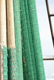 Hanging fishing nets Stock Photos