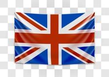 Hanging flag of Great Britain. United Kingdom of Great Britain and Northern Ireland. British national flag concept. Vector illustration vector illustration