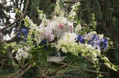 Hanging flower arrangement Stock Photo