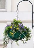 Hanging flower box Royalty Free Stock Photo