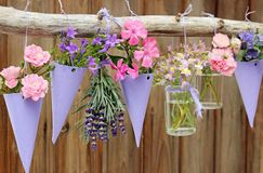 Hanging flower garden royalty free stock photos