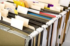Hanging Folder and label Royalty Free Stock Images