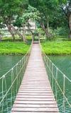 Hanging foot bridge Stock Photos