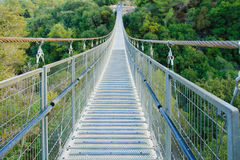 Hanging Foot Bridge. A hanging foot bridge, in Nesher Park, Nesher, Israel Royalty Free Stock Images
