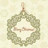 Hanging Frame with Christmas Greetings Stock Image