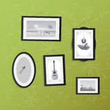 Hanging Frames with Pictures Royalty Free Stock Image