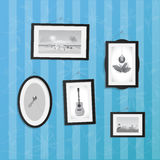 Hanging Frames with Pictures Royalty Free Stock Photo
