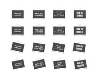 Hanging frames with text Stock Images
