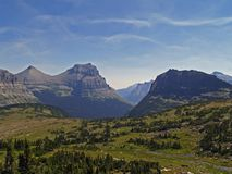 Hanging Gardens near Logan Pass. This image of the area known as Hanging Gardens was taken on a trail in Glacier National Park Royalty Free Stock Photography
