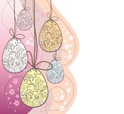 Hanging garland of easter eggs Royalty Free Stock Photos