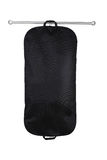 Hanging garment bag. A black hanging garment bag on a pole Stock Images