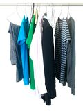 Hanging Garments Stock Photography
