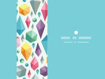 Hanging geometric shapes horizontal decor seamless Royalty Free Stock Photo