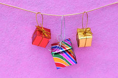 Hanging gift box Royalty Free Stock Photography